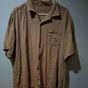 Tommy Bahama silk pritned campshirt size L